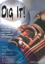 Lopez-Real, Carlos: Dig it (+CD) for 1-3 clarinets and piano