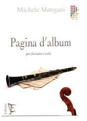 Mangani, Michele: Pagina d'album for clarinet and strings, score and parts