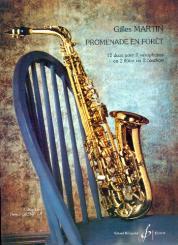 Martin, Gilles: Promenade en Forêt pour 2 saxophones ou 2 flûtes ou 2 hautbois, partition