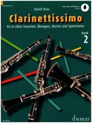 Mauz, Rudolf: Clarinettissimo Band 2 (+Online Audio) für 1-2 Klarinetten