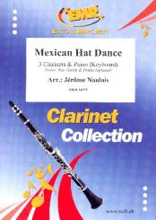 Mexican Hat Dance for 3 clarinets and piano (keyboard) (rhythm group ad lib), score and parts