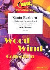 Montana, Carlos: Santa Barbara for 4 clarinets and piano (keyboard) (rhythm group ad lib), score and parts