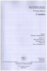 Monti, Vittorio: Czárdás für Flöte, Oboe, Klarinette, Horn und Fagott, Partitur und Stimmen