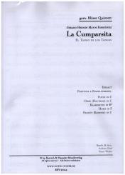 Rodríguez, Gerardo Matos: La Cumparsita für Flöte, Oboe, Klarinette, Horn und Fagott, Partitur und Stimmen
