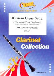 Russian Gipsy Song for 4 clarinets and piano (keyboard) (rhythm group ad lib), score and parts
