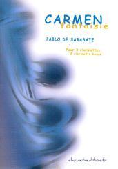 Sarasate, Pablo de: Carmen-Fantasie op.25 pour 3 clarinettes et clarinette basse, partition et parties