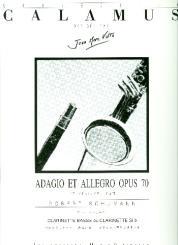 Schumann, Robert: Adagio et Allegro op.70 pour clarinette basse (clarinette) et piano
