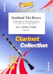 Scotland the Brave for 4 clarinets and piano (keyboard) (rhythm group ad lib), score and parts