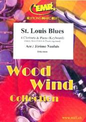 St. Louis Blues for 4 clarinets and piano (keyboard) (rhythm group ad lib), score and parts