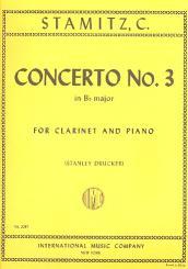 Stamitz, Karl: Concerto Bb major no.3 for clarinet and piano