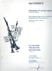 Stamitz, Karl: Concerto no.1 fa majeur (F-Dur) pour 4 clarinettes, parties
