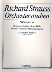 Strauss, Richard: Orchesterstudien aus Bühnenwerken Band 3 Spielpartitur für Klarinetten