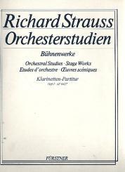 Strauss, Richard: Orchesterstudien aus Bühnenwerken: Spielpartitur Band 1 für Klarinetten