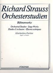 Strauss, Richard: Orchesterstudien aus Bühnenwerken Spielpartitur Band 2 für Klarinetten