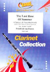 The Last Rose Of Summer for 4 clarinets and piano (keyboard) (rhythm group ad lib), score and parts