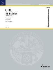 Uhl, Alfred: 48 Etüden Band 1 (Nr.1-24) für Klarinette