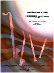 Weber, Carl Maria von: Concertino en mib majeur op.26 pour clarinette en sib et piano