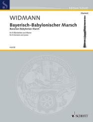 Widmann, Jörg: KLB98 Bayrisch-Babylonischer Marsch für 8 Klarinetten und Klavier, Partitur und Stimmen