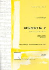 Wimmer, Alois: Konzert Nr.2 für Klarinette und Blasorchester für Klarinette und Klavier