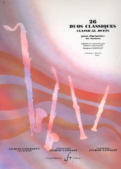 26 duos classiques vol.1 pour clarinettes, Lancelot, J., arr.