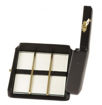 Case for 6 bass saxophone reeds, artificial leather