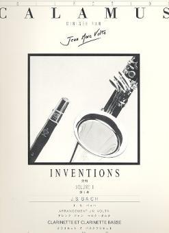 Bach, Johann Sebastian: Inventions vol.1 for clarinet and bass clarinet, score
