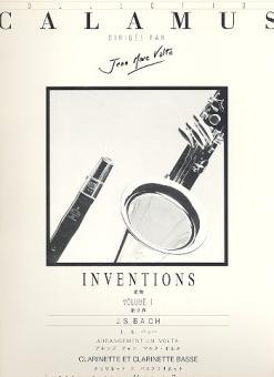 Bach, Johann Sebastian: Inventions vol.2 for clarinet and bass clarinet, score