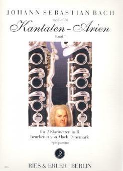 Bach, Johann Sebastian: Kantaten-Arien Band 1 für 2 Klarinetten Spielpartitur