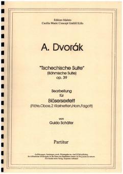 Dvorák, Antonín: Böhmische Suite op.39 für Flöte, Oboe, 2 Klarinetten, Horn und Fagott, Partitur und Stimmen
