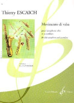 Escaich, Thierry: Movimento di valsa pour saxophone alto et accordéon