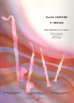 Lefèvre, Jean Xavier: Sonate no.7 pour clarinette et piano
