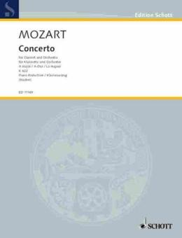 Mozart, Wolfgang Amadeus: Concerto A major KV622 for clarinet and orchestra for clarinet and piano