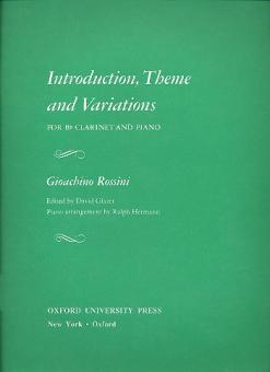 Rossini, Gioacchino: Introduction, Theme and Variations for clarinet and piano